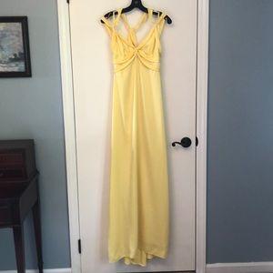 BCBG yellow formal dress
